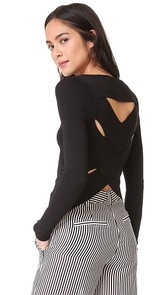360 SWEATER Veda Open Back Sweater