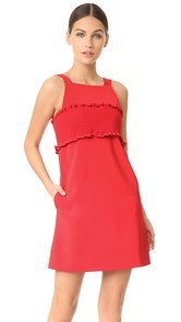 Tibi Smocking Bandeau Dress