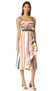 Tanya Taylor Alibi Striped Claire Dress