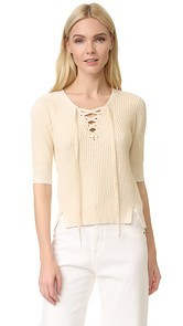 Veronica Beard Marley Lace Up Sweater