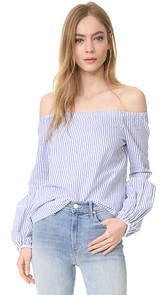 WAYF Rushville Off Shoulder Top
