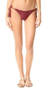 ViX Swimwear Burgundy Tie Bikini Bottoms