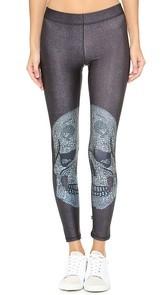 Terez Crystal Skull Performance Leggings
