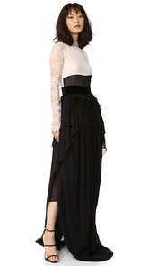 Antonio Berardi Long Sleeve Gown