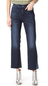 ANINE BING Contrast Insert Jeans