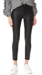 Blank Denim The Principle Mid Rise Vegan Leather Skinny Pants