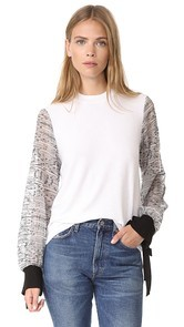 Clu Embroidered Sleeve Pullover