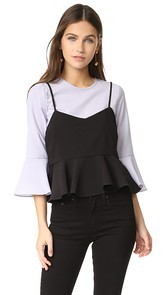 ENGLISH FACTORY Bell Sleeve Cami Top