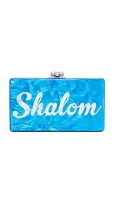 Edie Parker Jean Shabbat Shalom Clutch