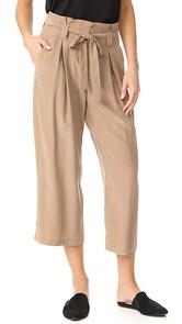 LAGENCE Samira Wide Paper Bag Pants