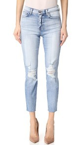 LAGENCE El Matador French Slim Destrcuted Raw Hem Jeans