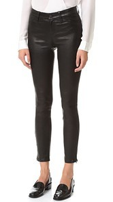 LAGENCE Aurelie Leather Leggings