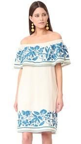 Scotch & Soda/Maison Scotch Boho Off Shoulder Embroidered Dress
