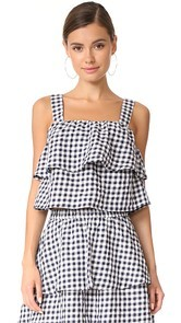 Madewell Gingham Tier Top