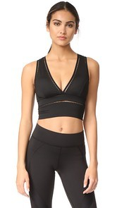 MICHI Plunge Crop Top