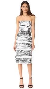 Milly Floral Striped Burnout Adeline Dress