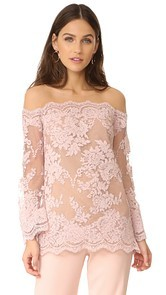 Marchesa Off Shoulder Top