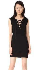 Pam & Gela Hooded Lace Up Dress