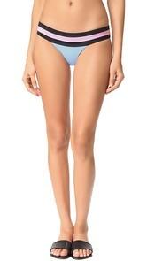 PilyQ Banded Colorblock Bikini Bottoms