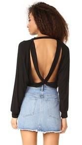Riller & Fount Chet Open Back Sweater