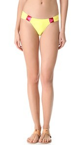 6 Shore Road by Pooja Rockhouse Embroidered Bikini Bottoms