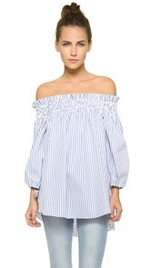 Caroline Constas Lou Off the Shoulder Blouse