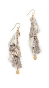 Chan Luu Chain Tassel Earrings