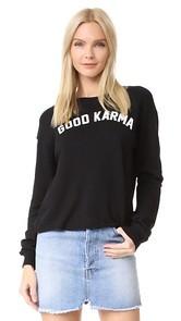 Spiritual Gangster Good Karma Crop Sweatshirt