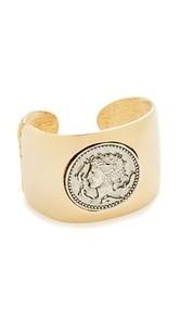 Kenneth Jay Lane Coin Cuff Bracelet