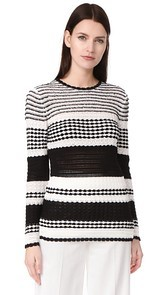 Novis Monroe Striped Crew Sweater