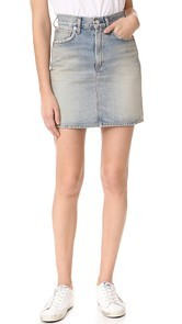 AGOLDE Kat High Rise Pencil Mini Skirt