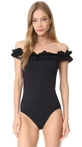 Karla Colletto Mondria Off Shoulder Maillot