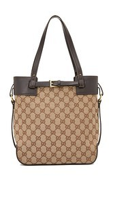 What Goes Around Comes Around Gucci Buckle Tote (Previously Owned)