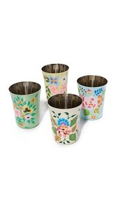 Gift Boutique Hand Painted Set of 4 Tumblers