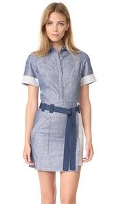 Grey Jason Wu Short Sleeve Shirtdress