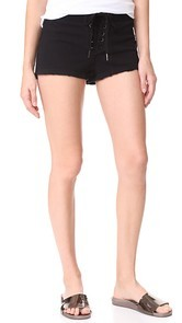 Pam & Gela Cropped Lace Up Shorts