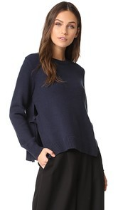 Jenni Kayne LS Crewneck with Ties