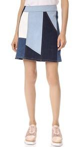 Victoria Victoria Beckham Patchwork Skirt