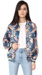 SJYP Hawaiian Print Bomber Jacket