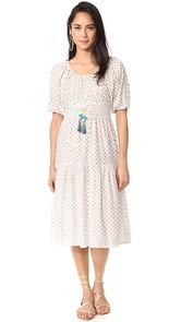 Bell Midi Dress with Tassels