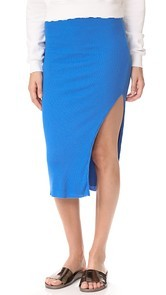 Cotton Citizen The Melbourne Ribbed Midi Skirt