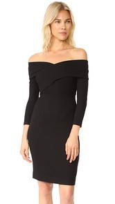 LAGENCE Fantina Shoulder Wrap Dress