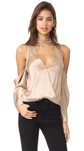 Michelle Mason Cold Shoulder Blouse