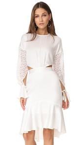 Marissa Webb Benson Crepe & Lace Dress