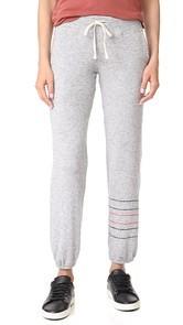 SUNDRY Embroidered Stripes Pocket Sweatpants