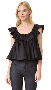 Tome Two Tiered Ruffle Top