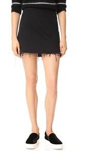 Denim x Alexander Wang Zip Miniskirt