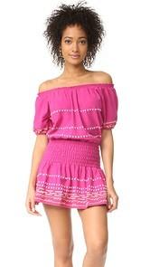 Piper Off Shoulder Embroidered Dress