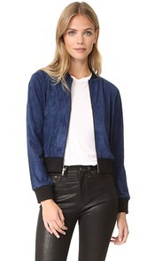 BB Dakota Ellie Faux Suede Bomber Jacket