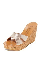 K. Jacques Kyoto Slide Wedges